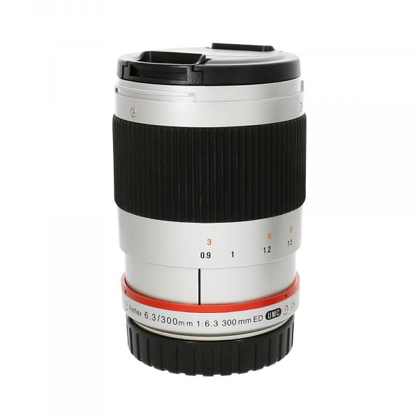Obj.Walimex Pro 300mm/1:6,3 CSC-Tele, Silber Nr.:F613F1436