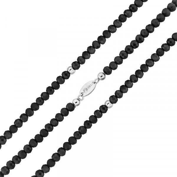Armband flexibel aus geschliffenen Kristallen schwarz