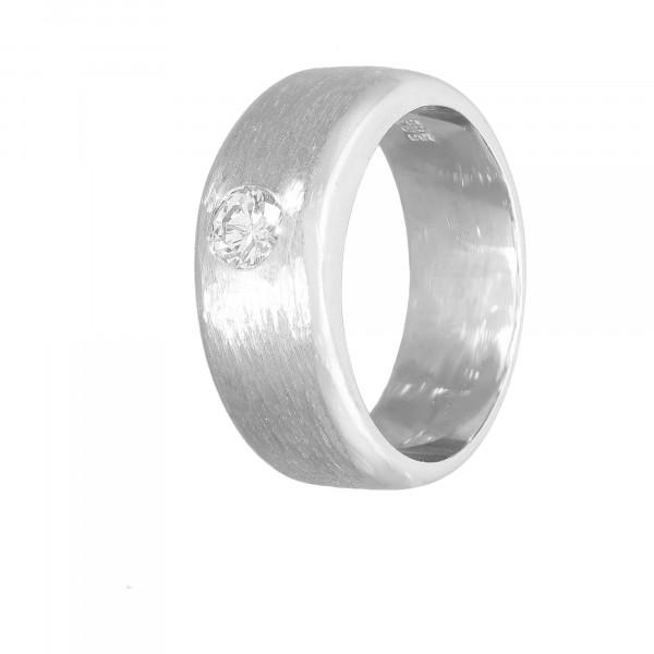 Bandring 585 Weißgold mit Diamant ca.0,33 ct.