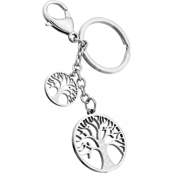Schlüsselanhänger Edelstahl Lebensbaum