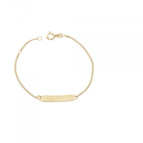 ID Armband 333 Gelbgold 14 cm bis 16 cm