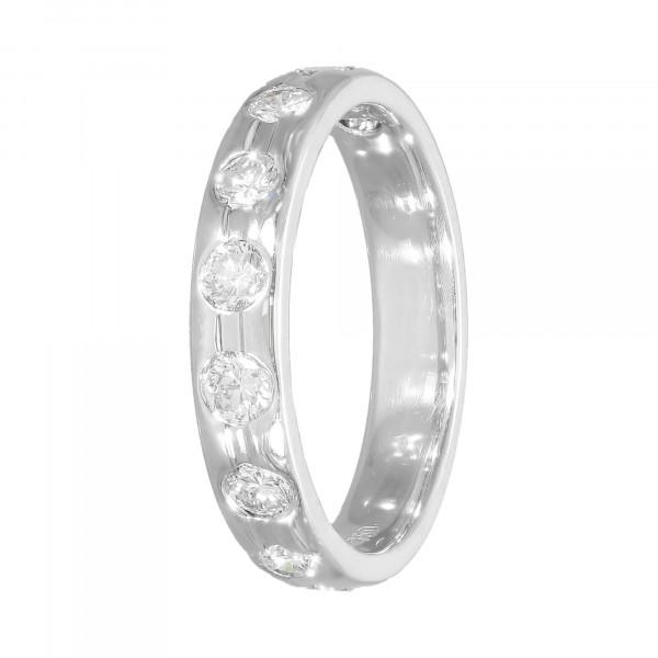 Ring 750 Weißgold mit Brillanten ca.0,90 ct.