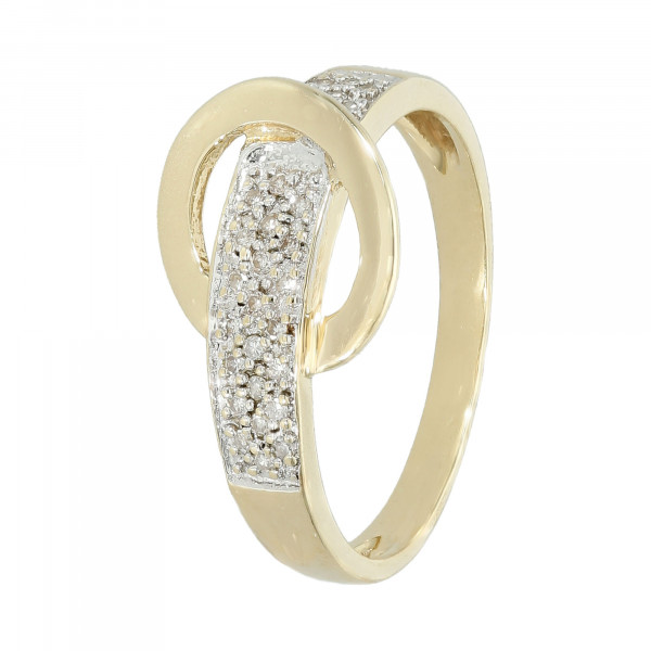 """Ring 585 bicolor mit Diamanten ca. 0,29 ct """"Gürtel"""""""