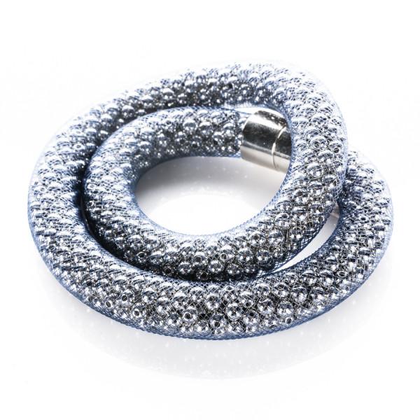 Collier mit Magnetverschluss blau/silber