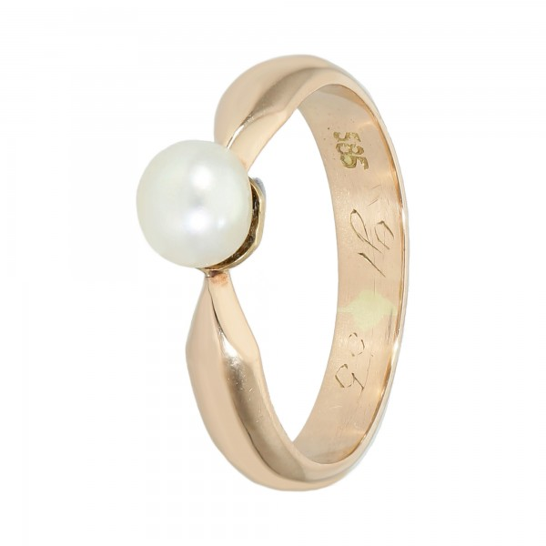 Ring 585 Gelbgold mit Perle