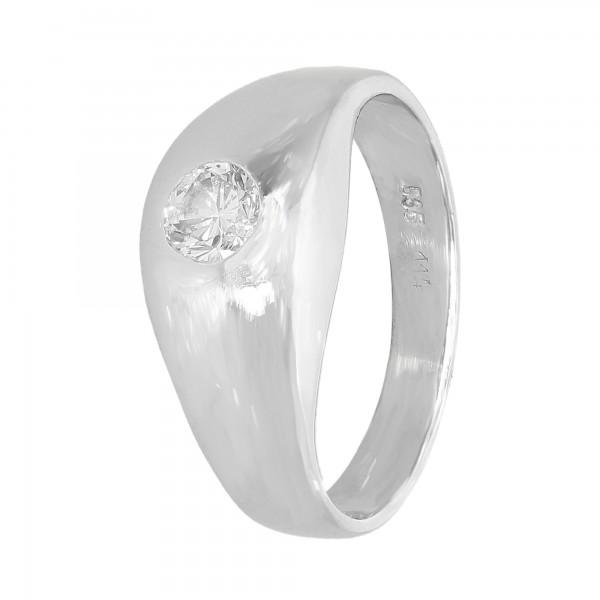 Ring 585 Weißgold mit 1 Brillant ca. 0,36 ct.