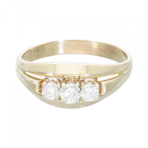 Ring 585 Gelbgold mit 3 Brillanten ca. 0,73 ct.