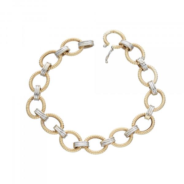 Armband 14K bicolor 21 cm