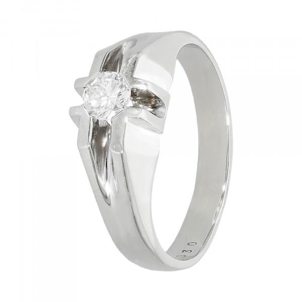 Ring 585 Weißgold mit 1 Brillant ca. 0,25 ct.