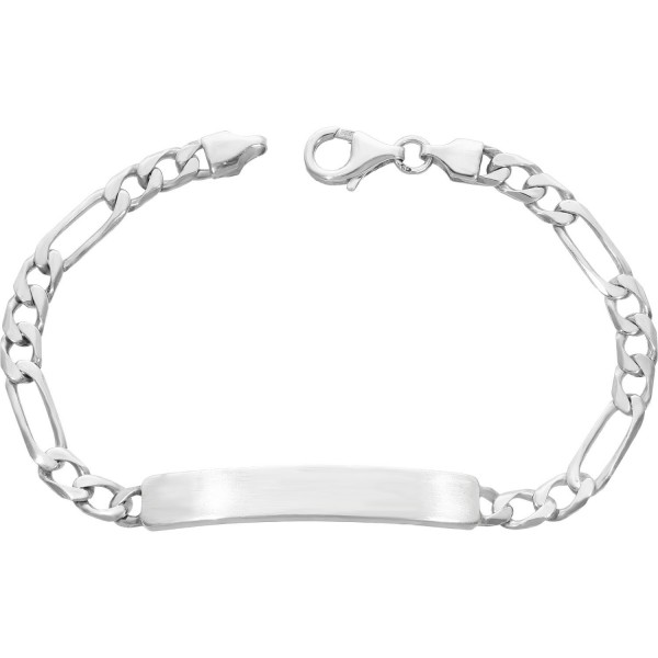 "ID Armband 925 Silber ""Figaro"" 19,5 cm"