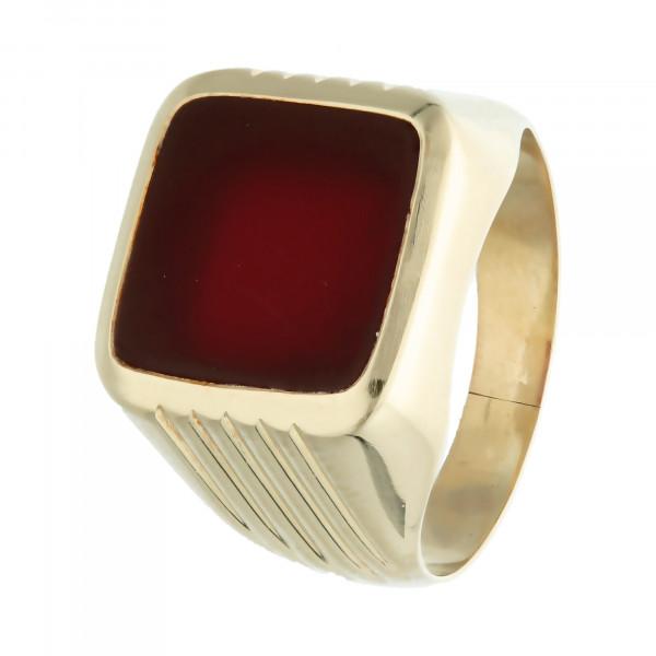 Ring 585 Gelbgold mit Carneol