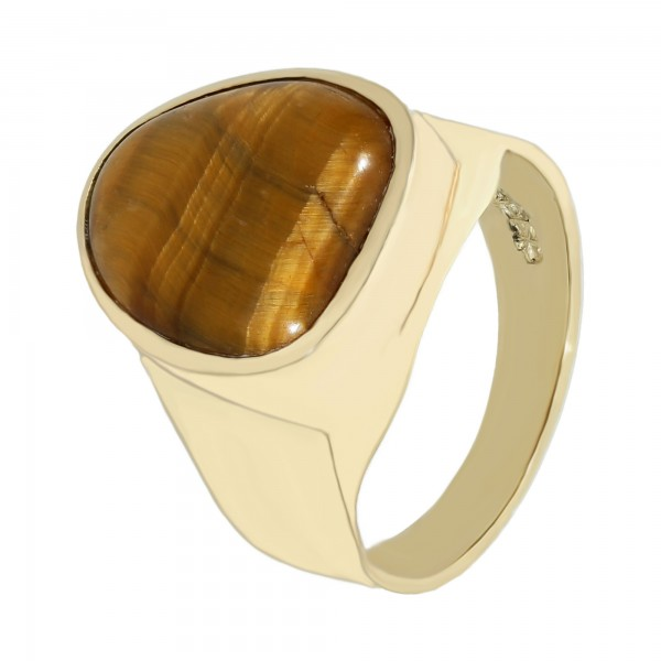 Ring 585 Gelbgold mit Tigerauge