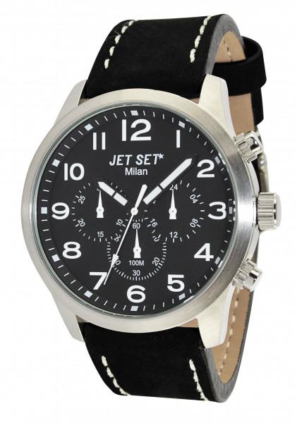 """Armbanduhr """"Jet Set"""" Milan schwarz / silber J64803-217"""
