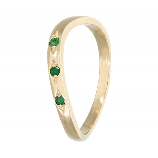 Ring 585 Gelbgold mit Smaragd