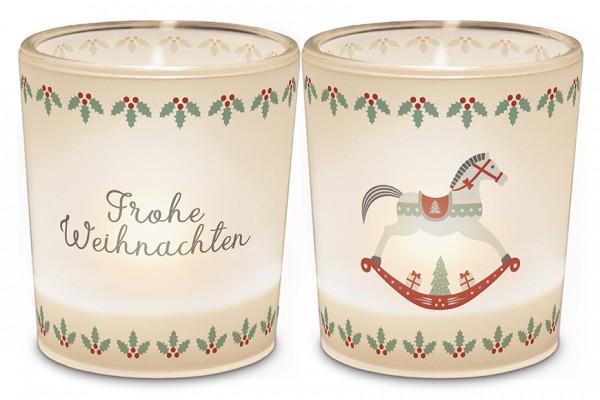 """Teelichthalter """"Frohe Weihnachten"""""""