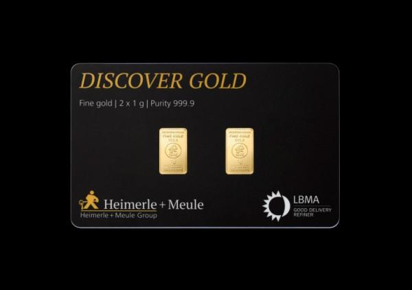 FineCard Discover Goldbarren 2 x 1 Gramm