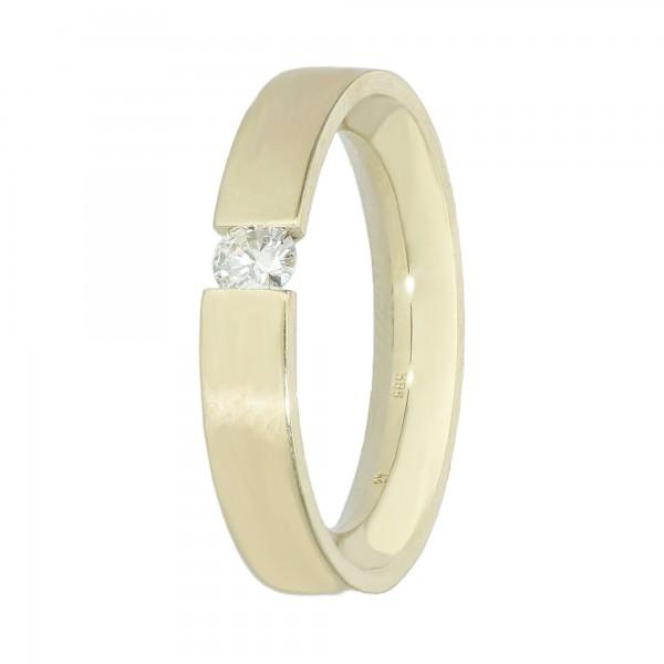 Ring Gelbgold 585 mit Brillant ca. 0,20ct.