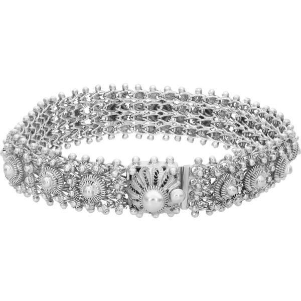 "Armband 835 Silber ""Filigranarbeit"" 20 cm"