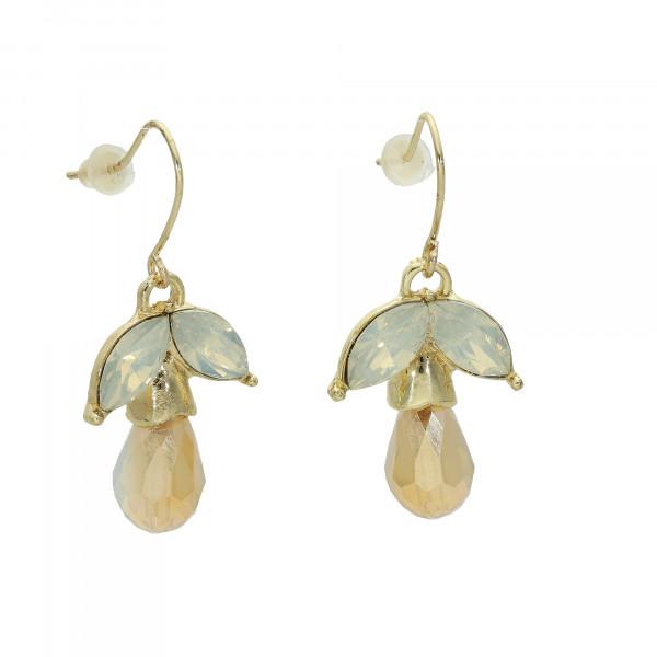 Ohrhänger vergoldet mit Tropfen Kristallen