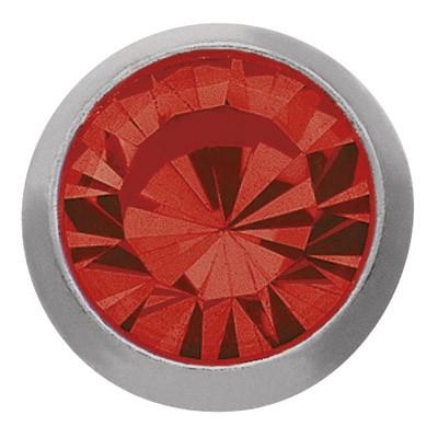 Ohrstecker Titan Zirkonia rot 3 mm