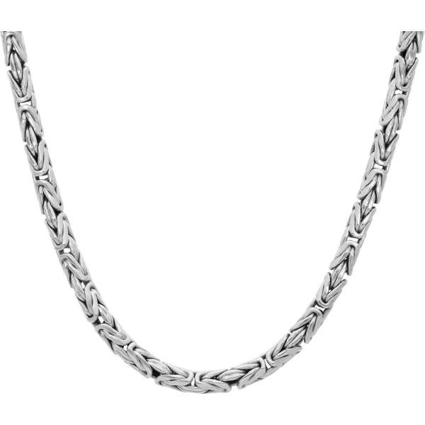 """Kette 925 Silber """"Königsmuster rund"""" 76 cm"""