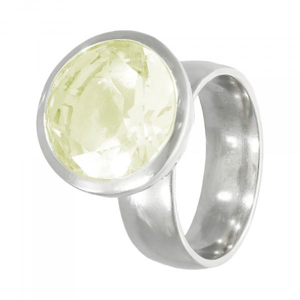 Ring 925 Silber mit Lemon Quartz