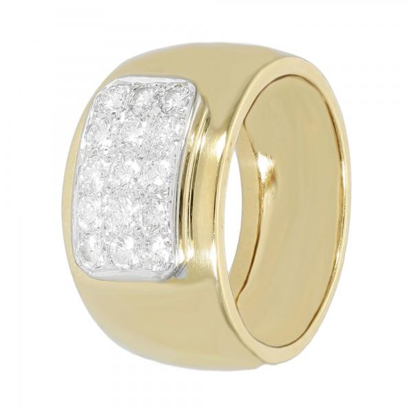 Ring bicolor 18 Karat mit Brillanten ca. 0,75 ct