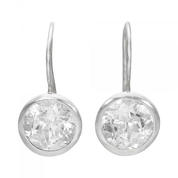 Ohrhänger Silber 925 mit white Topas
