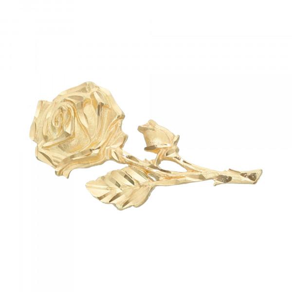 Brosche 333 Gelbgold Rose