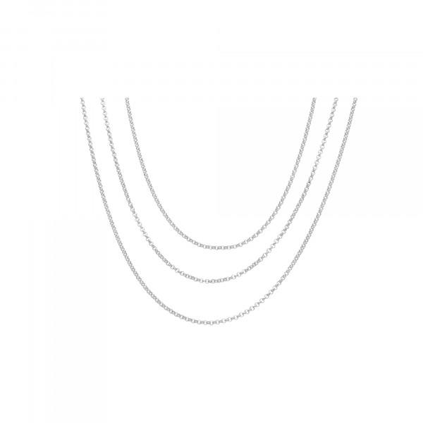 Kette Silber 925 Anker 3 reihig 42 cm