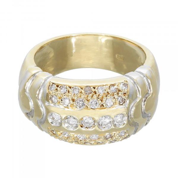 Ring 585 bicolor mit Brillant ca. 0,53 ct.
