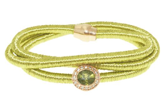 Kette Kupfer/Messing grün mit Zirkonia