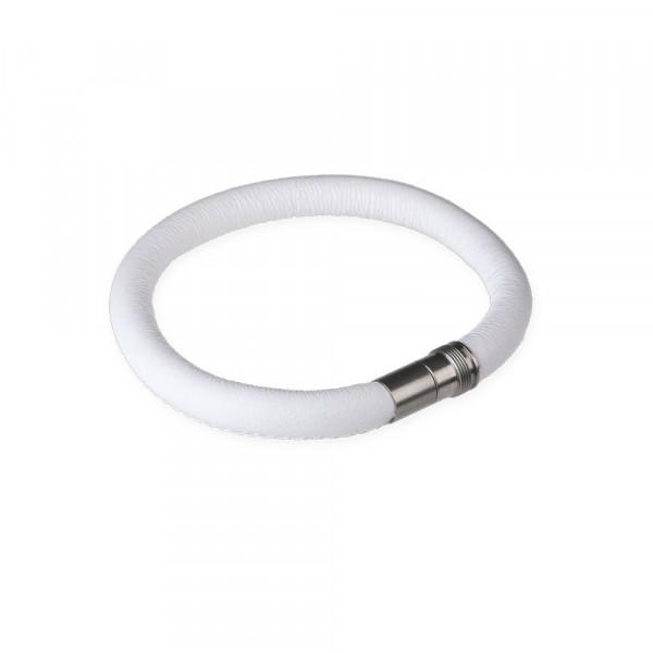 Leder- Armband 6 mm weiß