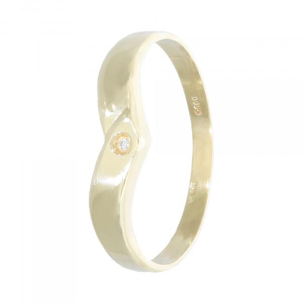 Ring 585 Gelbgold mit 1 Brillant