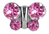 Ohrstecker Chirurgenstahl Schmetterling pink