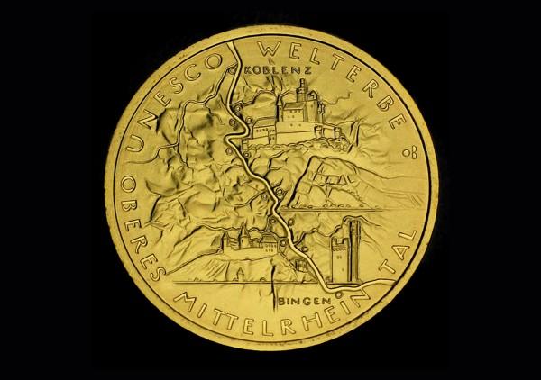100 Euro O.Mittelrheintal Goldmünze banküblich