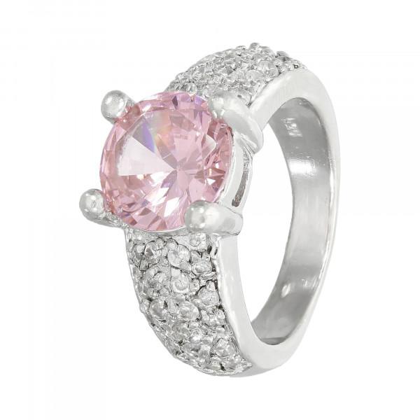 Ring 925 Silber mit rosa und weißen Zirkonia