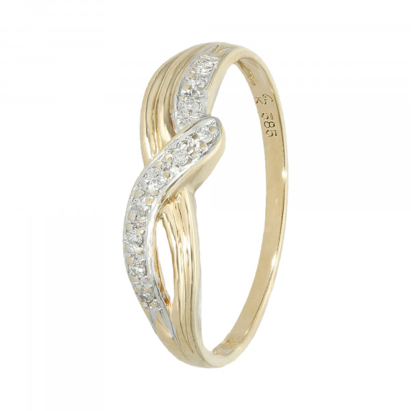 Ring 585 Gelbgold mit Brillanten ca. 0,10 ct.