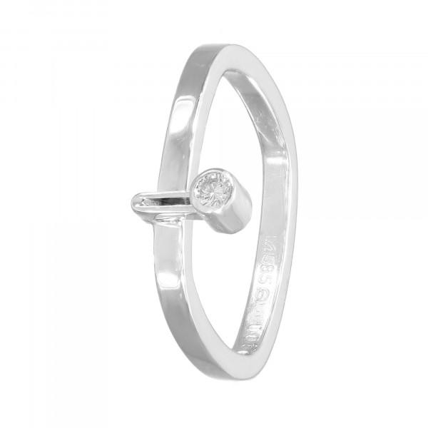 Ring 585 Weißgold mit 1 Brillant