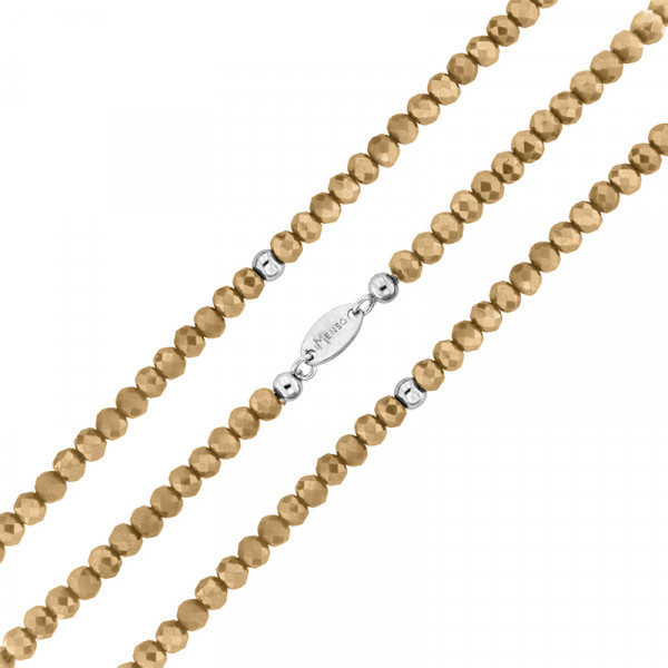 Armband flexibel aus geschliffenen Kristallen beige
