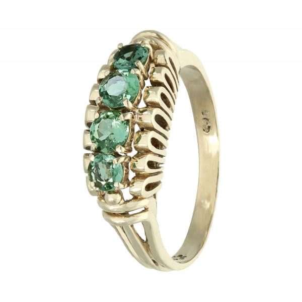Ring 585 Gelbgold mit grün Turmalin