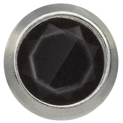 Ohrstecker Titan Zirkonia schwarz 3 mm