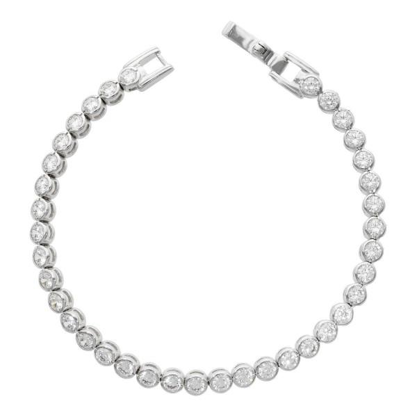 """Armband 925 Silber """"Tennis"""" mit Kristallen"""