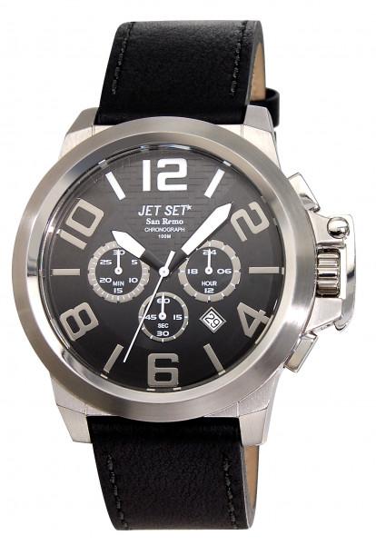 "Armbanduhr ""Jet Set"" San Remo schwarz / silber J61903 -267"