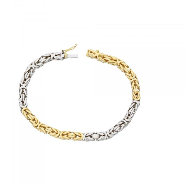 Armband 585 bicolor 19,5 cm
