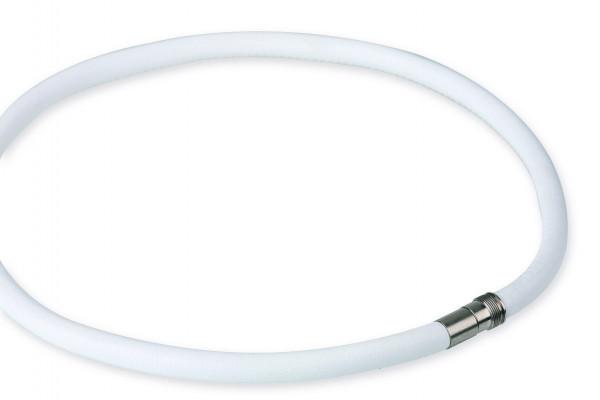 Leder- Kette 6 mm weiß