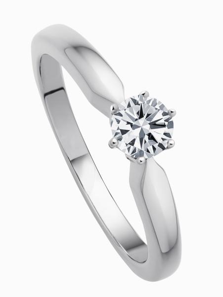 Ring 585 Weißgold mit 1 Brillant 0,40ct W-SI