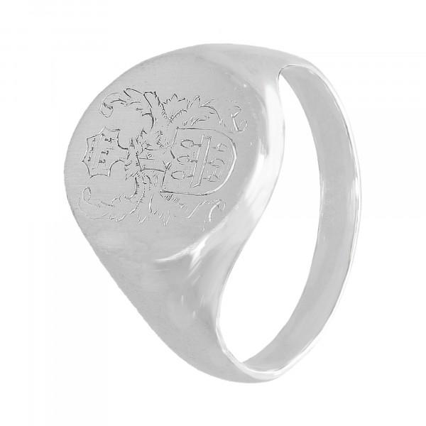"""Ring 585 Weißgold """"Wappen"""""""