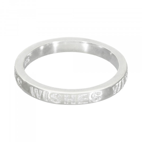 """Bandring 925 Silber """" WISHES """""""