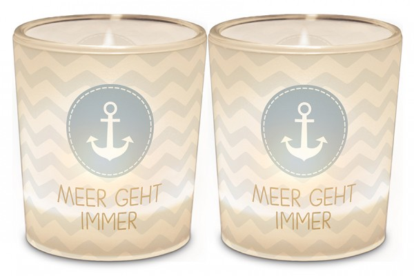 "Teelichthalter ""Meer geht immer"""